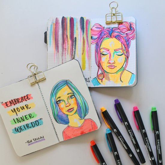 DIY Easy Highlighter Drawings