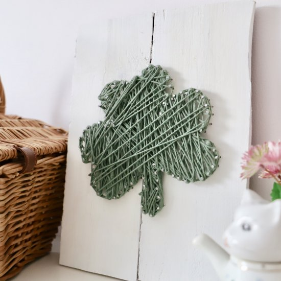St Patricks day shamrock DIY