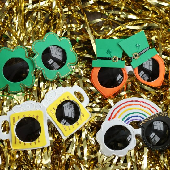 St. Patrick's Day DIY Sunglasses