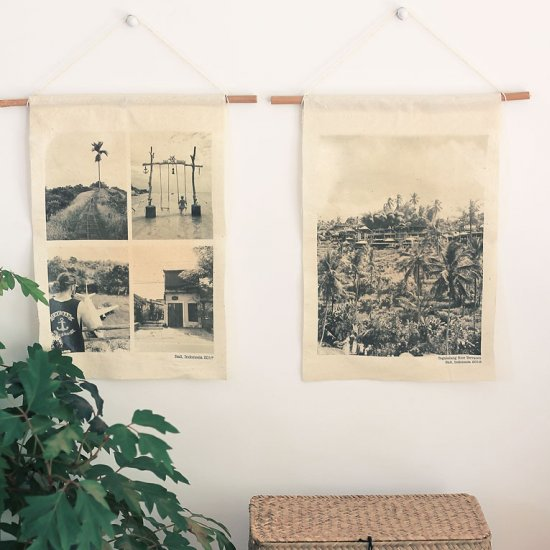 DIY fabric travel wall hangings