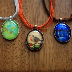 ... DIY Glass Cabochon Necklaces