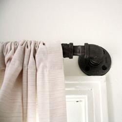 ... DIY Industrial Curtain Rod