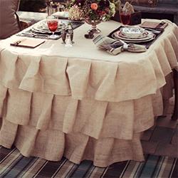 ... Ruffled Burlap Tablecloth Tutorial