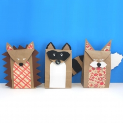 Woodland Creature Brown Paper Bags Craftgawker