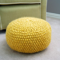 Pleasing Knitted Pouf Craftgawker Squirreltailoven Fun Painted Chair Ideas Images Squirreltailovenorg
