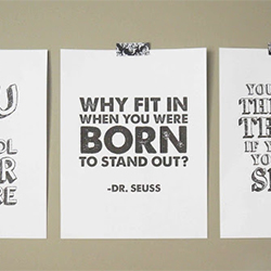 photograph relating to Free Printable Inspirational Posters referred to as absolutely free printable dr. seuss posters craftgawker