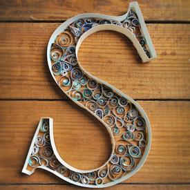 Paper quilling gallery craftgawker quilled letter altavistaventures Choice Image