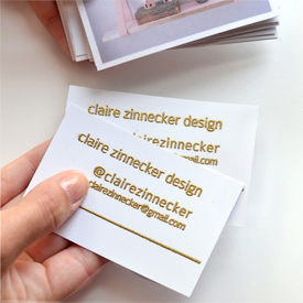 Embossed Photo Business Cards