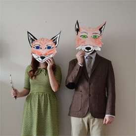 The gallery for fantastic mr fox costume mask for Fantastic mr fox mask template