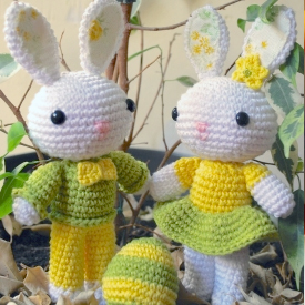 Crochet Amigurumi Bunny Toy Free Patterns Instructions | Easter ... | 275x275