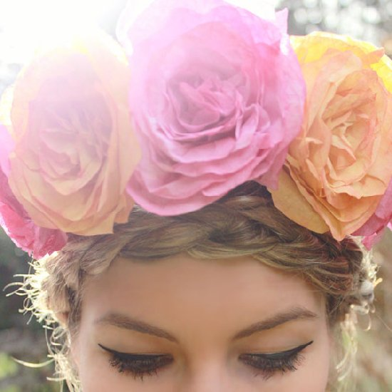 Coffee Filter Roses Flower Crown