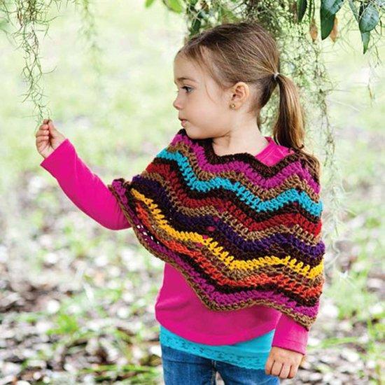 Free Crochet Chevron Poncho Pattern Craftgawker