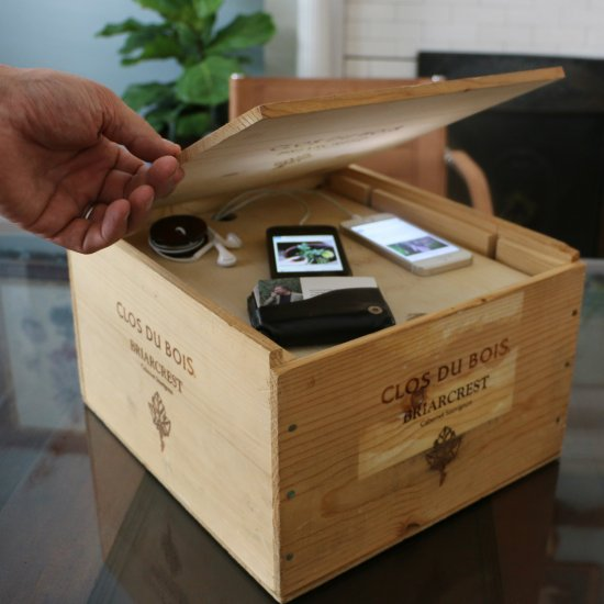 Diy Wine Crate Charging Station Craftgawker