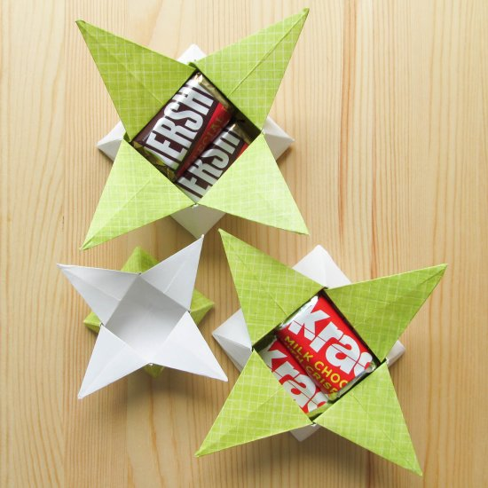 How to make a four-pointed lovely origami star box: page 12 | 550x550