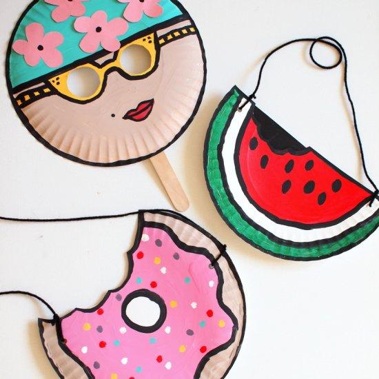 ... Summer Paper Plate Crafts  sc 1 st  Craftgawker & kids masks gallery   craftgawker