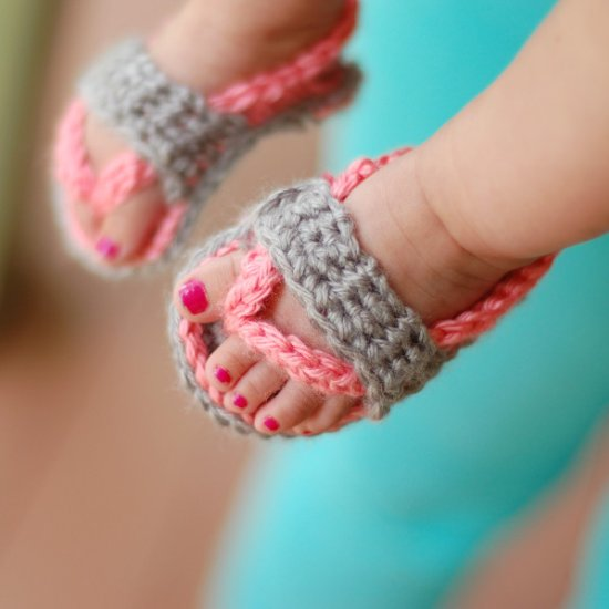 Baby Flip Flops Crochet Pattern Craftgawker