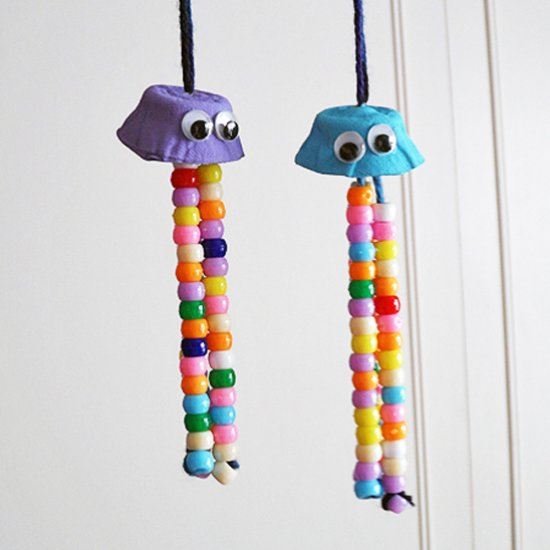 Egg Carton Crafts Colorful Jellyfish Crafts By Amanda