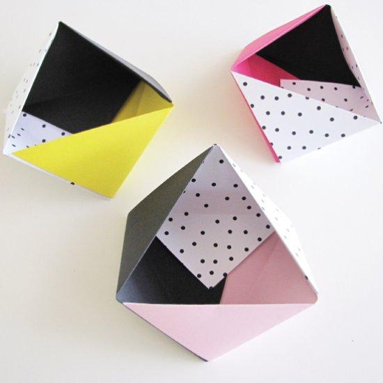 Origami Triangular Box | 550x550