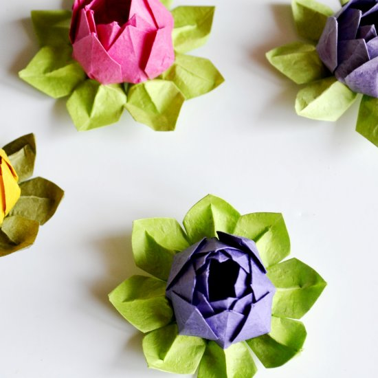 Origami flower gallery craftgawker origami lotus flowers mightylinksfo