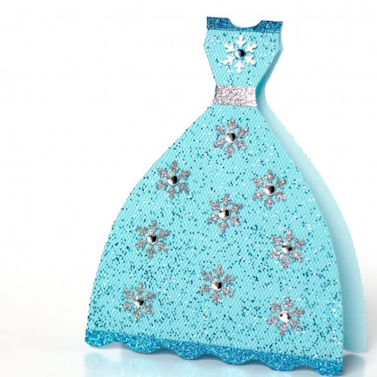 Glittery Snow Princess Dress Card