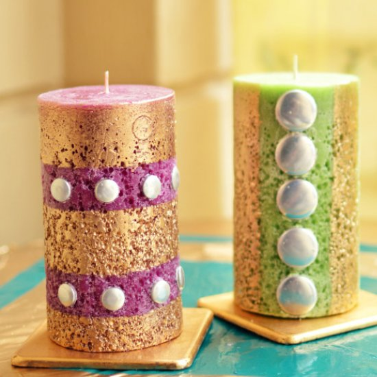 diy candle makeover - Candle Decoration