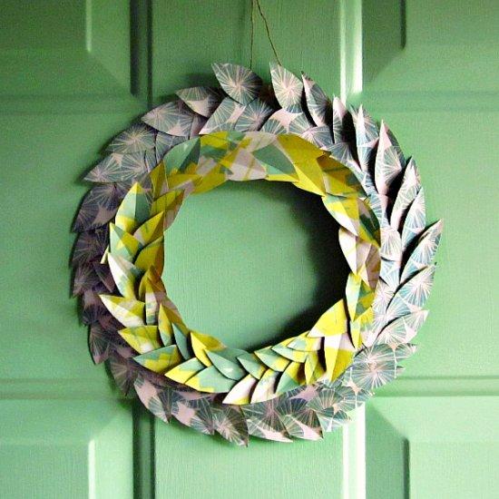 paper wreath gallery craftgawker