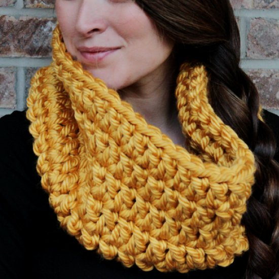 Crochet Chunky Infinity Scarf Rescued Paw Designs Crochet