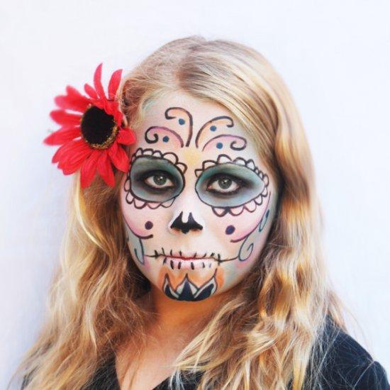 Day Of The Dead Sugar Skull Makeup Tutorial - Mugeek ...