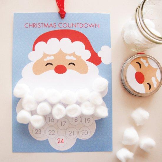 Calendario Countdown.Diy Santa Countdown Advent Calendar Tomfo