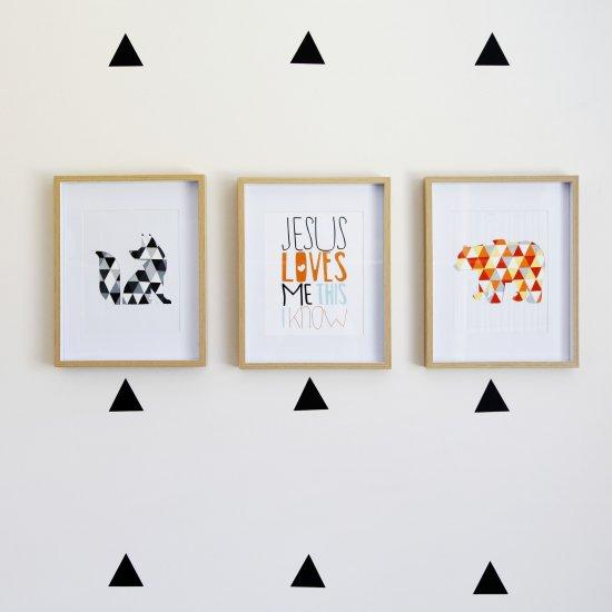 Elegant  DIY Geometric Animal Wall Art