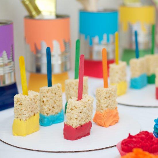 Easy DIY Kids Art Themed Birthday