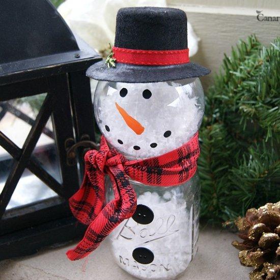 Mason Jar Snowman Monthly Diy Challenge Canary Street Crafts