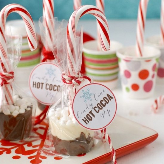 candy cane hot cocoa pops | craftgawker
