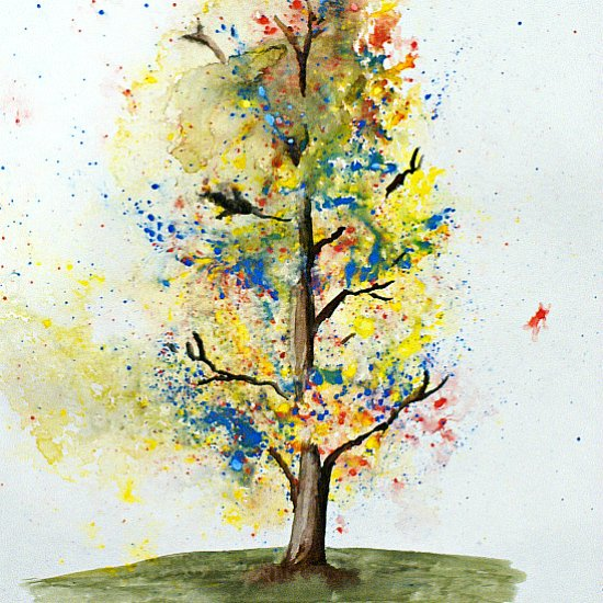 Easy Watercolor Trees For Kids
