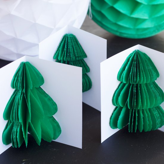 Honeycomb Tree Christmas Card Craftgawker