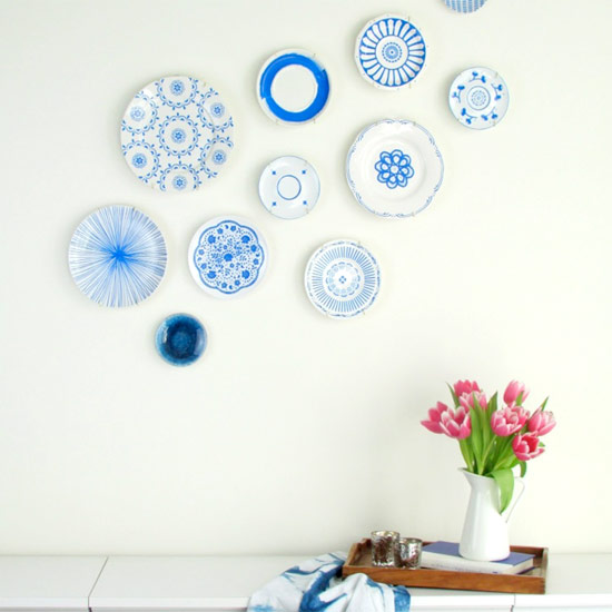 Hand-Painted Blue & White Plates