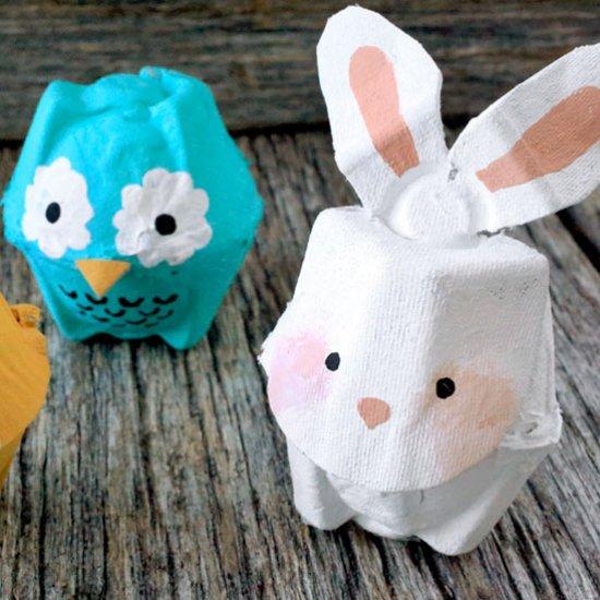 Egg carton triceratops craftbnb for Egg carton christmas crafts