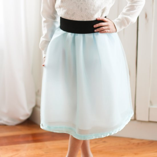 95204481bd #80432 tidbits-cami.com Inexpensive tulle fabric takes on a whole new level  of elegance, with this tulle skirt with a wide elastic waistband tutorial.