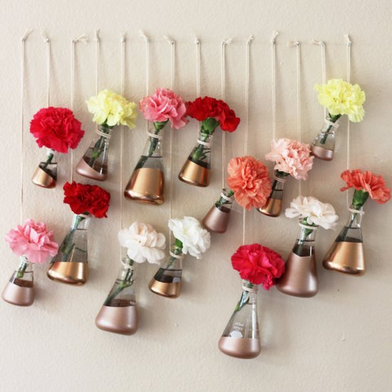 Rose gold spray paint gallery craftgawker diy copper hanging bud vases mightylinksfo