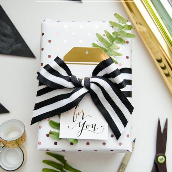 DIY Foil Gift Wrap