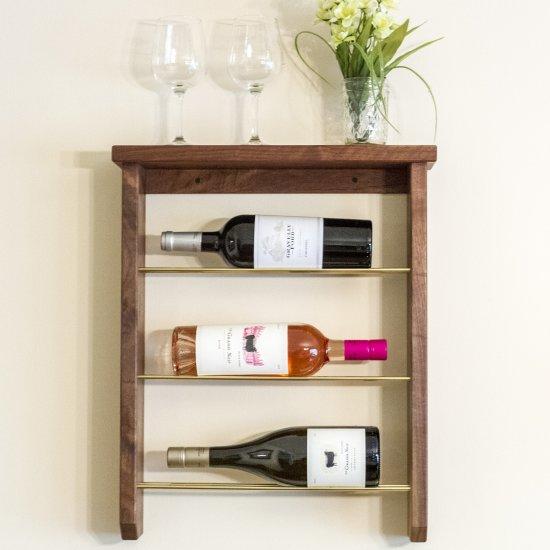 Diy Wood And Brass Wine Rack Craftgawker