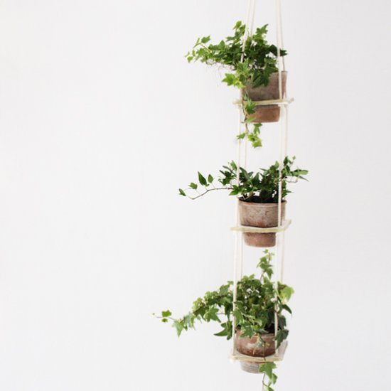 3 Tiered Clay Hanging Planter