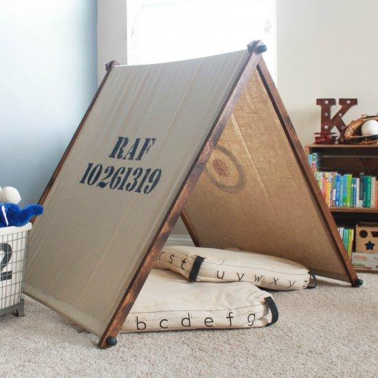 ... DIY Kids Playroom Tent & teepees gallery | craftgawker