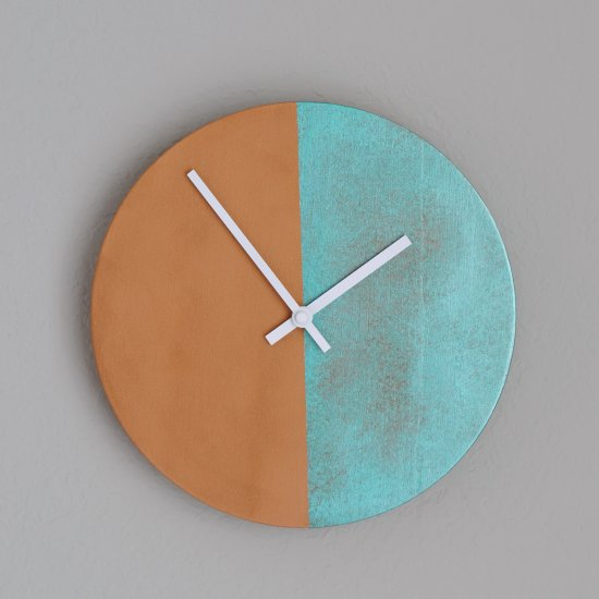 DIY Copper Patina Clock