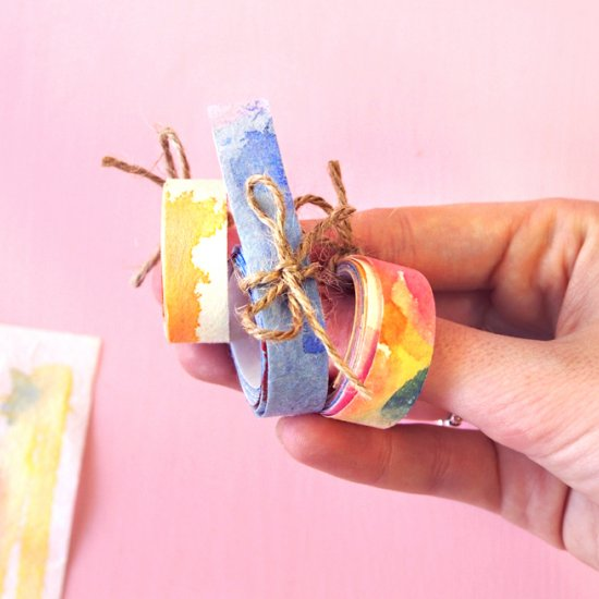DIY Watercolor Washi Tape!