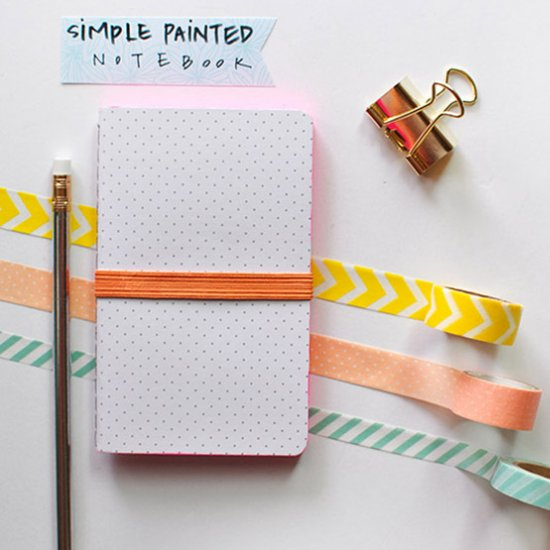 Simple Painted Notebook Craftgawker