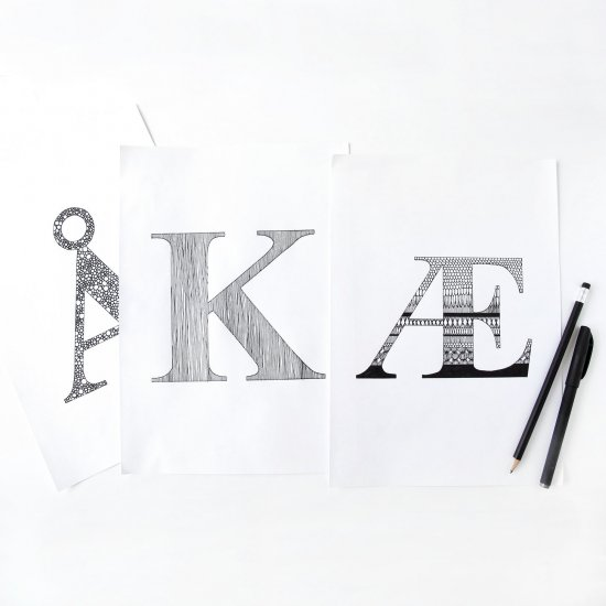 printable letters for illustrations craftgawker