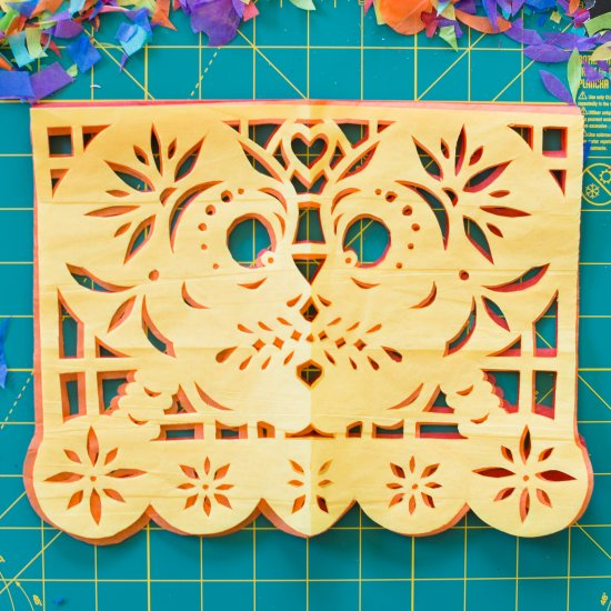 picture regarding Papel Picado Templates Printable called papel picado gallery craftgawker