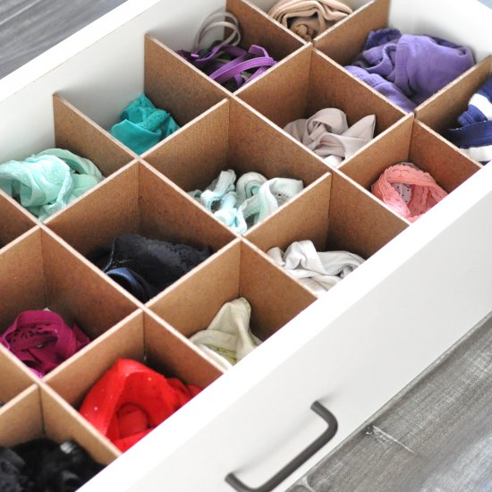 DIY Custom Drawer Organizers