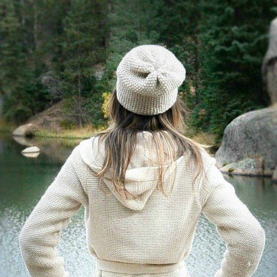 Favorite Textured Knit Slouch Hat